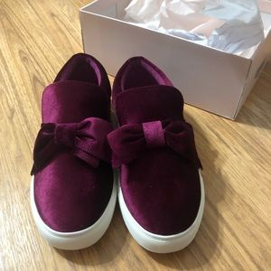 Justfab burgundy sneakers